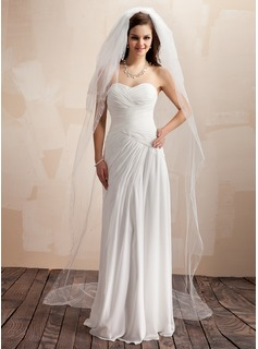 Four-tier Chapel Bridal Veils With Cut Edge (006005388)