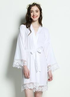 Coton la mariée Demoiselle d'honneur Demoiselle d'honneur junior Robes Vierges Robe De Dentelle (248174563)