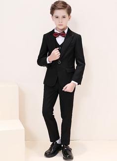 Boys 5 stycken Klassisk Stil Passar till ringbärare /Page Boy Suits med Jacka Skjorta Väst Byxor Fluga (287204966)