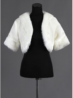 Half-Sleeve Faux Fur Wedding Wrap (013015988)