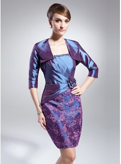 3/4-Length Sleeve Taffeta Wrap (013014992)
