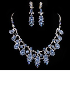 Gorgeous Alloy/Rhinestones Ladies' Jewelry Sets (011005487)