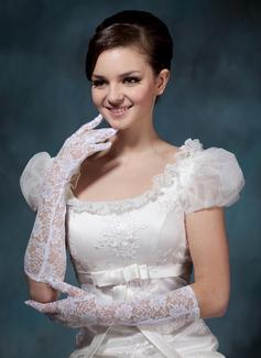 Schnur Ellenbogen Länge Braut Handschuhe (014020498)