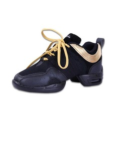 Women's Leatherette Sneakers Practice With Lace-up Dance Shoes (053056413)