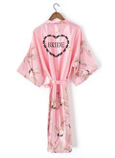 personnalisé charmeuse la mariée Demoiselle d'honneur Maman Demoiselle d'honneur junior Robes Florales Robes Brodées (248199944)