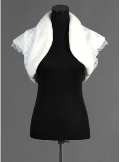 Short Sleeve Faux Fur Special Occasion Wrap (013015986)