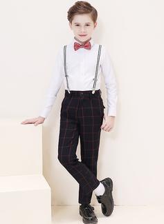 Boys 4 stycken Pläd Passar till ringbärare /Page Boy Suits med Skjorta Byxor Fluga Strumpeband (287204967)