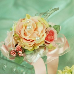 Nice Free-Form Satin Wrist Corsage/Pin-on Corsage (124032009)