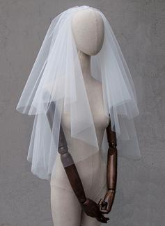 Two-tier Cut Edge Elbow Bridal Veils (006189453)