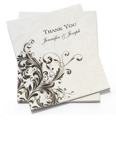 Personalized Floral Design Paper Thank You Cards (Set of 50) (118032210)