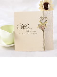 Heart Style Z-Fold Invitation Cards (Set of 50) (114032364)