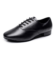 Men's Real Leather Flats Sneakers Latin Ballroom Practice Character Shoes Dance Shoes (053108817)