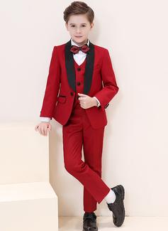 Boys 5 stycken Formell Stil Passar till ringbärare /Page Boy Suits med Jacka Skjorta Väst Byxor Fluga (287204952)