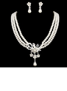 Elegant Alloy With Pearl Rhinestone Ladies' Jewelry Sets (011005553)