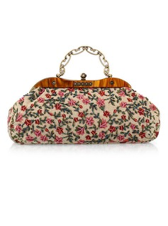 Charming Fabric With Beading/Floral Print Clutches (012025173)