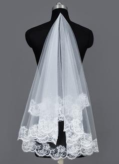 Uno strato Velare da sposa valzer con Bordi in pizzo (006034186)