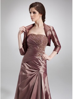 3/4-Length Sleeve Taffeta Special Occasion Wrap (013012348)
