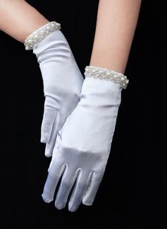 Satin Wrist Length Bridal Gloves (014189805)