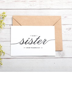 Bride Gifts - Classic Paper Wedding Day Card (255184424)