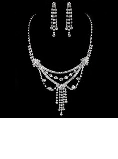 Elegant Alloy With Rhinestone Ladies' Jewelry Sets (011005474)