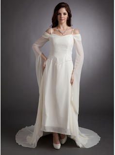 Robe de Bal de Promo Ligne-A/Princesse Hors paule Assymetrique Mousseline Robe de Bal de Promo avec Brod (018016247)