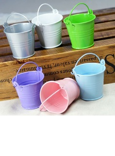 Lovely Cylinder Metal Favor Pails (Set of 12) (050005515)