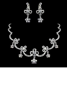 Elegant Alloy With Rhinestone Ladies' Jewelry Sets (011006358)