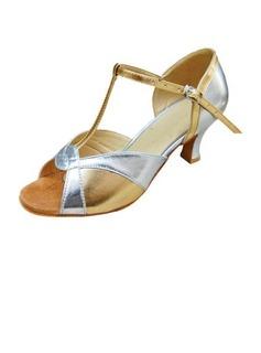 Frauen Lackleder Heels Sandalen Latin mit T-Riemen Tanzschuhe (053013015)