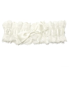 Lovely Lace With Bowknot Wedding Garter Skirt (104024543)