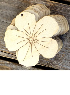 Beautiful/Flower Design Nice/Lovely Wooden Wedding Ornaments (set of 10) (131178938)
