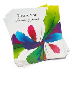 Personalized Feather Paper Thank You Cards (Set of 50) (118032186)