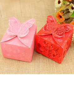 Butterfly Theme Cuboid Favor Boxes (Set of 12) (114024111)