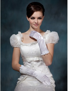 Elastic Satin Elbow Length Party/Fashion Gloves/Bridal Gloves (014020518)