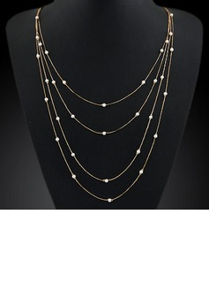 Beautiful Alloy With Imitation Pearl Ladies' Fashion Necklace (137053823)