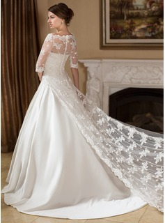 Half-Sleeve Lace Wedding Wrap (013024557)