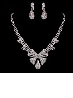Gorgeous Alloy/Rhinestones Ladies' Jewelry Sets (011005485)