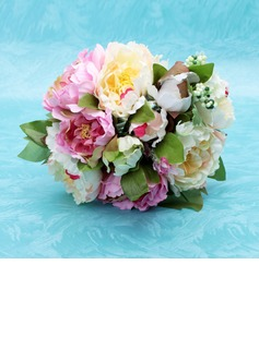 Attractive Hand-tied Satin Bridesmaid Bouquets (123032453)