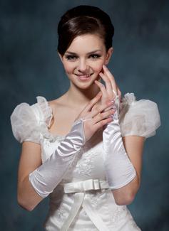Elastische Satin Ellenbogen Länge Braut Handschuhe (014020508)