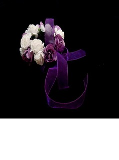 Simple Round Paper Wrist Corsage - (123031948)