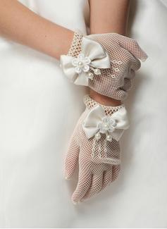 Spitze Handgelenk Länge Flower Girl Handschuhe (014205756)
