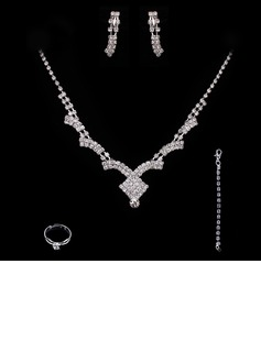 Elegant Alloy With Rhinestone Ladies' Jewelry Sets (011005488)