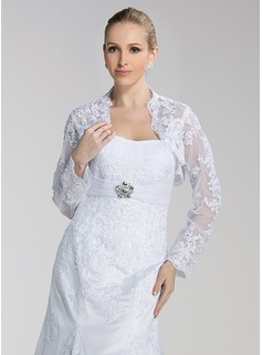 Long Sleeve Lace Wedding Wrap (013004188)