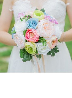Colorful Free-Form Satin Bridal Bouquets/Bridesmaid Bouquets - (123178001)