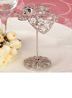 Angel Design Zinc Alloy Place Card Holders With Pearl (051024923)