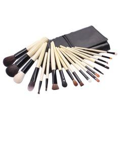 Top Madera pincel de maquillaje profesional (18 piezas)(046025393)
