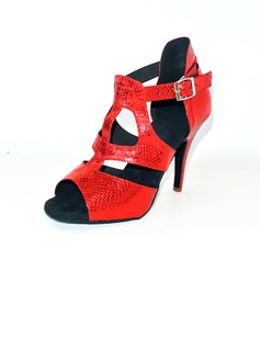 Women's Leatherette Heels Sandals Latin With Animal Print Dance Shoes (053012613)
