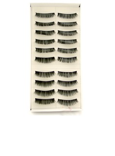 Manual Looking Curved Lashes 008# - 10 Pairs Per Box  (046026691)