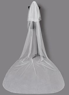 Dos capas Con abalorios Velos de novia capilla (006203724)