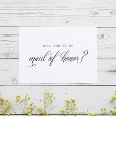 Bridesmaid Gifts - Classic Elegant Paper Wedding Day Card (256176221)