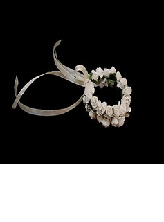 Simple Round Paper Wrist Corsage - (123031945)